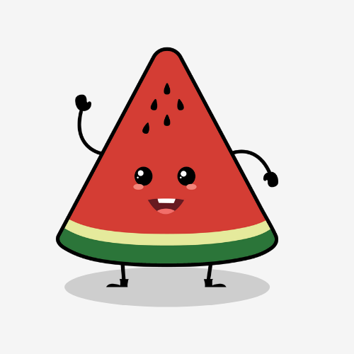 watermelon character slice